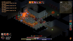 Player uses fireball on packed room in Reaper form